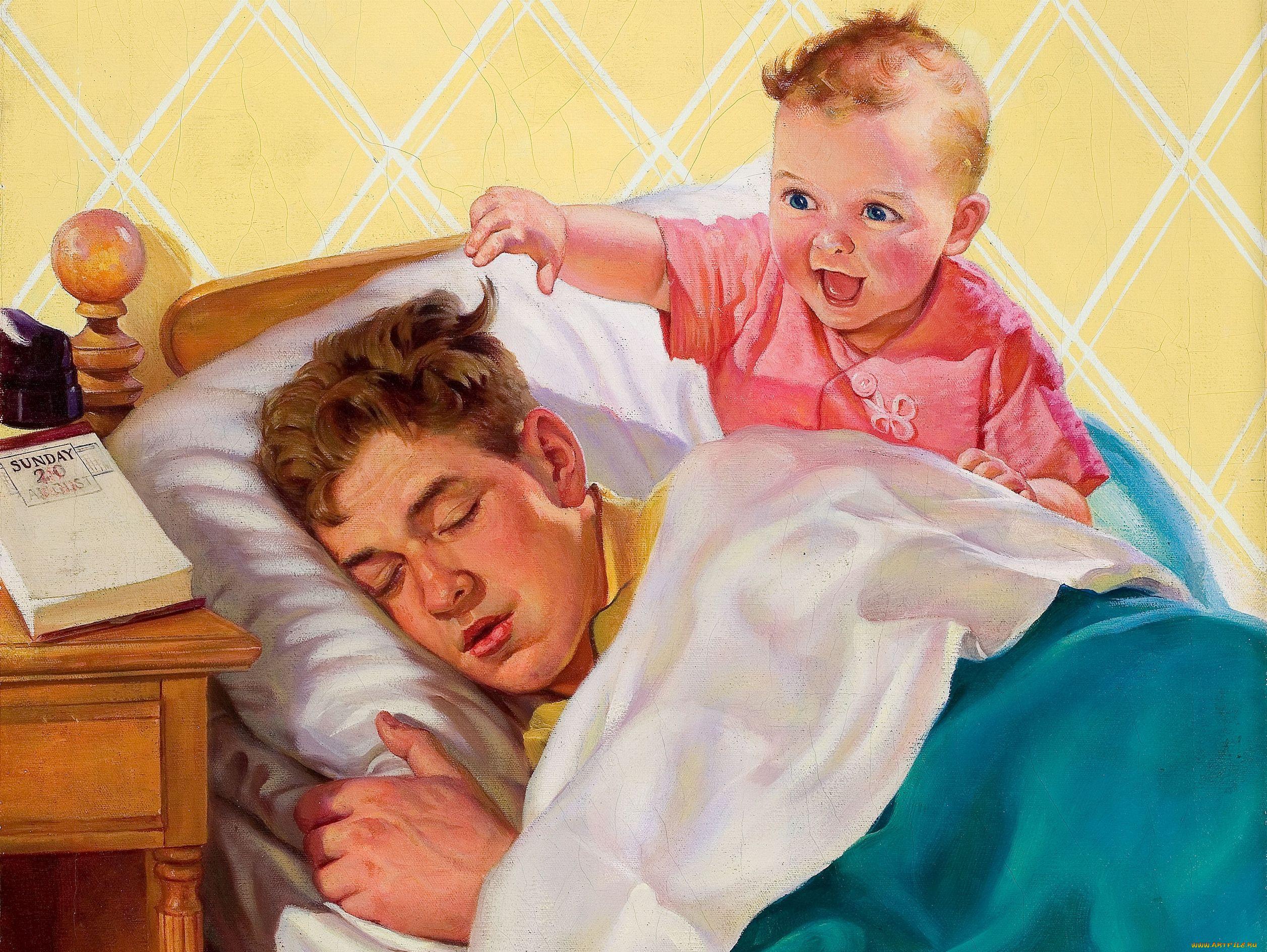 Что может нарисовать ребёнок на голове спящему